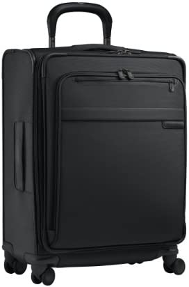 Briggs Riley Baseline-Softside Wide-Body Carry-On Spinner Luggage, Black