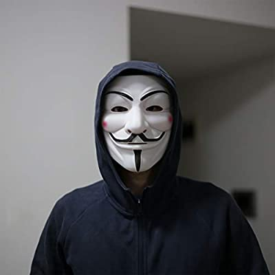 DukeTea Hacker Mask for Kids, Anonymous Mask Halloween Costume Cosplay Masquerade Party: Clothing