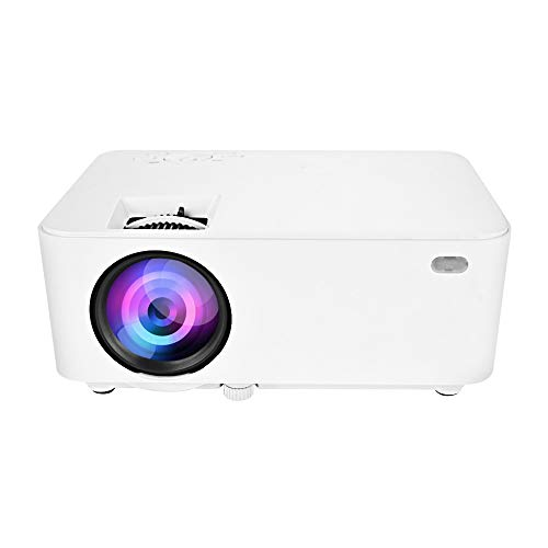 LED Mini Projector Support 1080P, Portable Multimedia LED Full HD Movie Video Projector Compatible with HDMI AV SD VGA USB Interface, Home Cinema Theater TV Laptop Game Tablet Smartphone Entertainment (LED Projector) ()