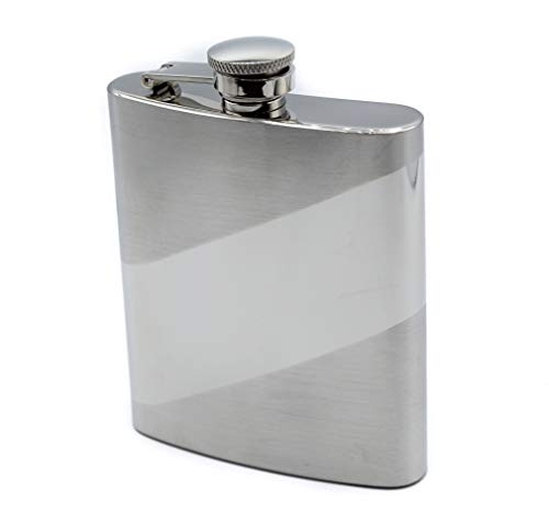 Premium Flasks for Liquor (8oz) - Men's Stainless Steel Hip Flask - Classic Vintage Slim Pocket Size Bottle for Liquor, Wine & Alcohol- Anti-Rusting & Leak Proof - The Ultimate Gift for Your Groomsmen ()
