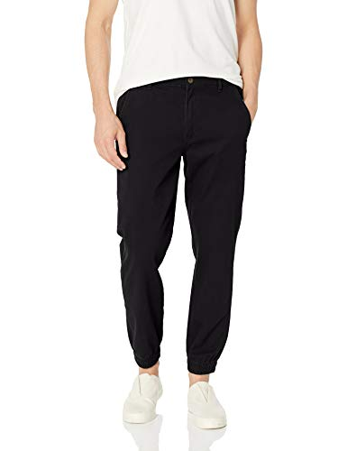 Amazon Essentials Men's Slim-Fit Jogger Pant, Black, Medium