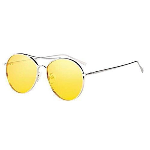 Espejo Gafas Negro De Controladores Conducir Color QZ Amarillo Vintage HOME Sol Polarizador Harajuku wpaqn5OYP