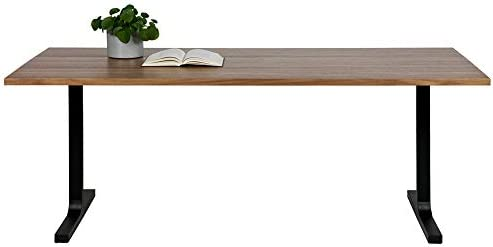 De eekh oorn Comedor Jimmy 200 x 90 cm Nogal Metal Dinner Mesa ...
