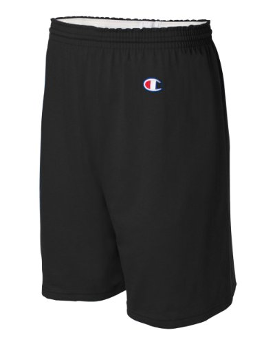 Champion Men's  6-Inch Black   Cotton Jersey Shorts - Small
