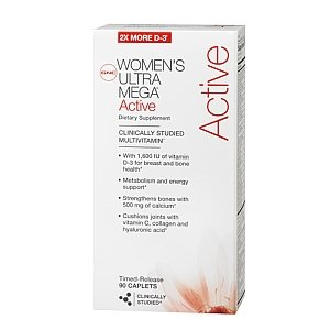 GNC WOMEN's Ultra Mega ACTIVE 90 Caplets