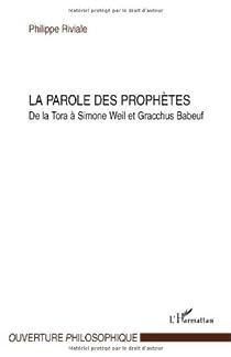 La parole des prophètes par Riviale