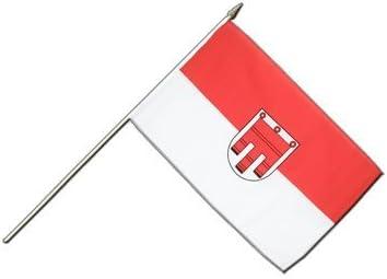 MaxFlags/® /Österreich Vorarlberg Aufn/äher /österreichische Flagge 6x8cm