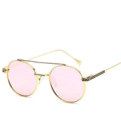 Sol De Gafas Retro Metálicos Redondas WHLDK Gafas Puente Estilo Gafas Barbie Con De Box Colorido The Sol Nasal Pink Marcos 6qqwpEO