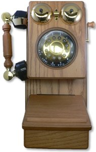 Country Kitchen Wall Phone - Golden Eagle Country Wood Phone - Oak (GOLD-GEE-8705K)