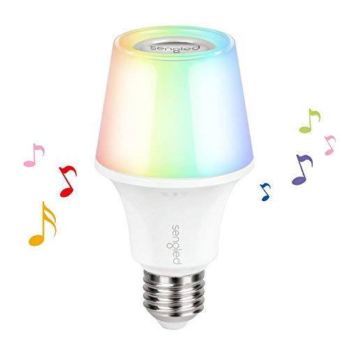 Sengled Solo Color Plus LED RGBW Bulb with Bluetooth Speaker, App  Controlled Smart Bulb Color Changing E26 led light, 60W Equivalent,  Compatible with