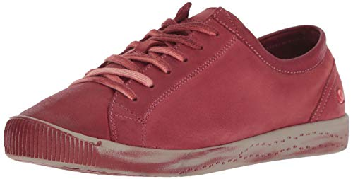 Isla Sneaker Leather Donna scarlet 568 Rosso Softinos Washed q7FxFf