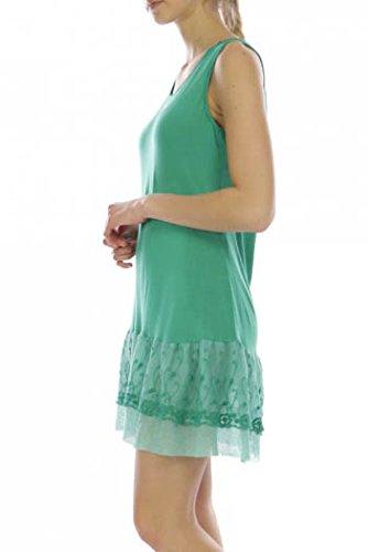 Tunica fondo in pizzo abito verde inferiore 0aq0P1wr