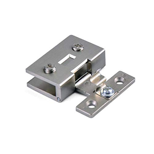 ZXHAO Square Glass Showcase Cabinet Clamp Hinge Zinc Alloy 2PCS (Small Size)