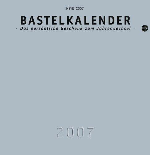 Bastelkalender silber groß 2007