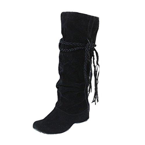 Tessals Motorcycle Shoes Boots Black High Thigh Platforms Heighten Women xIfqOO