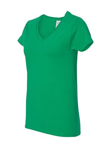 Gildan Heavy CottonTM Ladies' 5.3 oz. V-Neck T-Shirt, 2XL, IRISH GREEN - Gildan Ladies Tee