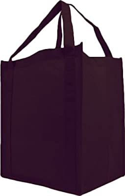 Reusable Reinforced Handle Grocery Tote Bag Large 10 Pack
