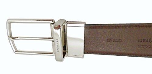Coach Belt MHRN Smooth CTSR Reversible One Size Black Mahogany F64824AQ0
