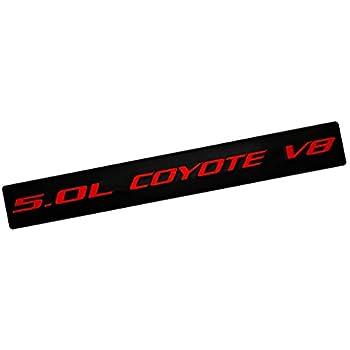 Black 5.0L Coyote V8 Engine Swap 4951cc Fender Hook Trunk Emblem 3D Badge Replacement for Ford Mustang /& F150
