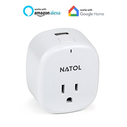 NATOL WiFi Smart Plug with USB Port Mini Wireless Outlet Works with Alexa & Google Home for Voice Control and APP for Remote Control Timing Function/ UL Certified(NT-WP01)  Review