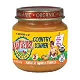 Earths Best Organic Country Dinner, 4 Ounce Jars (Pack of 12)