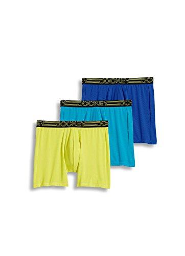 Jockey Mens Underwear Active Microfiber Midway Brief 3 Pack