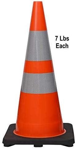 HEAVY DUTY Orange Traffic Cones 500mm PACK OF 6
