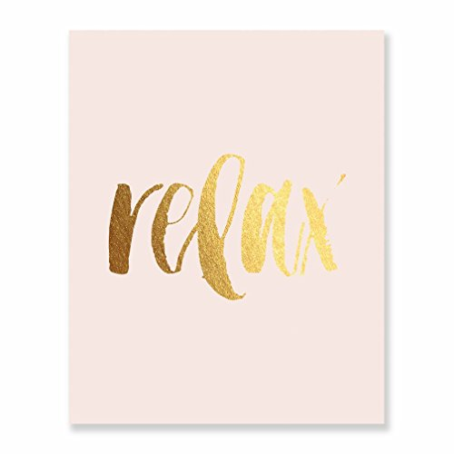 pink and gold quotes art poster