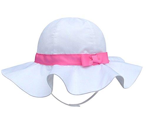 Spring / Summer Cotton Baby Girls s Outdoor Bowknot Sun Hat /Beach Hat