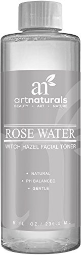 ArtNaturals Rosewater Witch Hazel Toner, Natural Anti Aging Pore Minimizer for Face, Infused with Aloe Vera for Hydrating The Face, For All Skin Types, 8 oz.