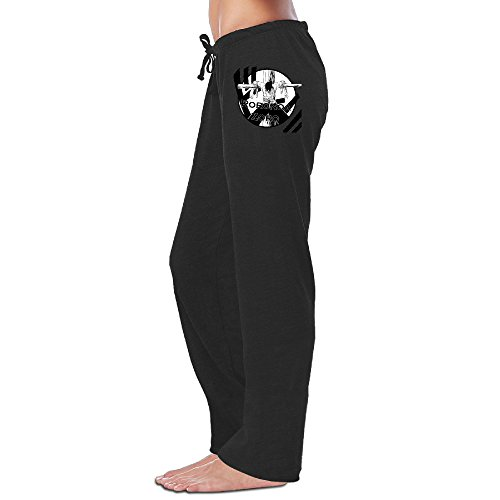 LowkeyNr1 Women's Roronoa Zoro Sweatpants Black (Lady Zoro)