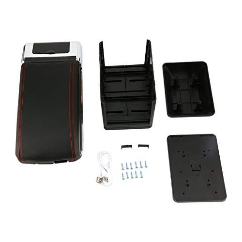 Caja de almacenamiento universal del apoyabrazos del coche con 7 puertos de USB Centro de la consola central Resto del brazo...