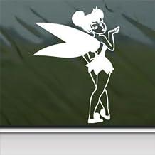 Tinkerbell Blowing A Kiss White Sticker Decal Car Window Wall Macbook Notebook Laptop Sticker Decal