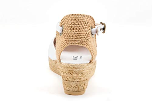 White Classic 2 inch Ankle In Barcelona Heel Pubol Made Toe Closed Viscata Espadrilles With strap Spain aYZqwzxU
