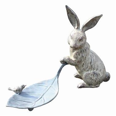 SPI Home 33069 Rabbit and Leaf Bird Feeder