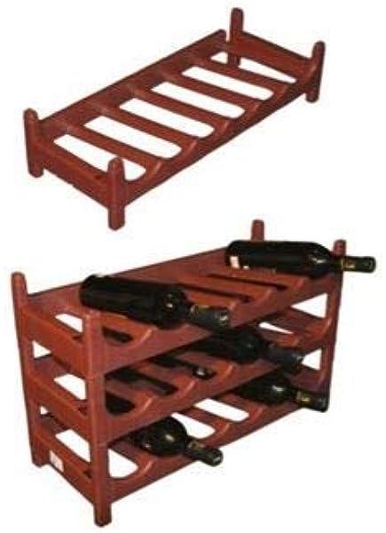 Botellero Terracota Apilable Plástico para Vinos, Mostos, Bebidas ...