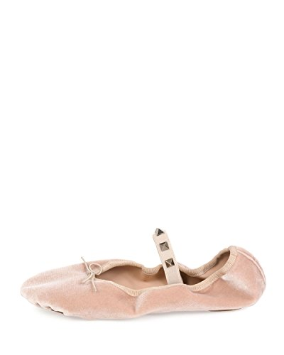 Velvet Flat 39 Ballerina Garavani Rockstud Valentino waCEqITR