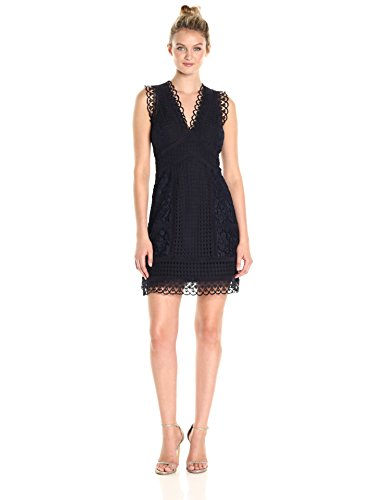 Zahra Dress Women's Blue Utility Connection Lace French ZwI5qExx