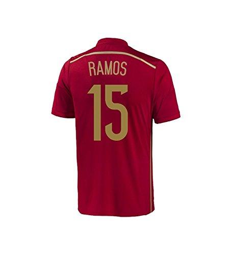 Adidas RAMOS #15 Spain Home Jersey World Cup 2014 YOUTH (YXL)