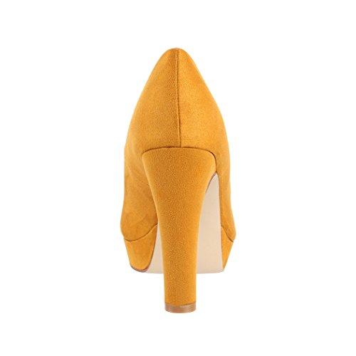 Lyon Tacco Da Stiletto Con Gelb Scarpe Pump Plateau A Donna Elara Alto xSPqH1wx