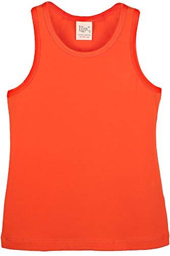 Lilax Girls' Racerback Tank Top 8 Orange