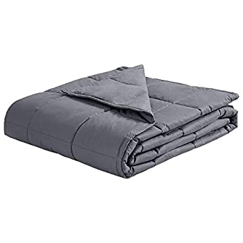 Image of puredown Weighted Blanket Breathable Cotton Cover with Glass Beads Heavy Blanket 41'x 60' 7lbs Grey puredown B07KY8CJMZ Weighted Blankets