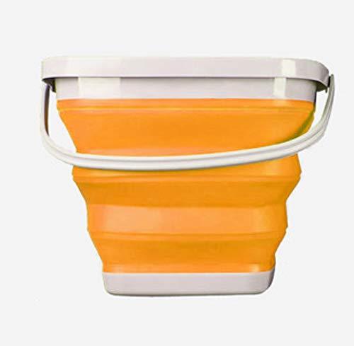 [해외]접이식 물통 10L (수납 락 틴) 편한 크기 (오렌지 10L) / Folding bucket 10l (storage Raku chin) easy to use size (orange 10l)