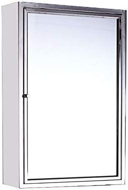ミラーキャビネット 浴室用ミラーストレージキャビネットとステンレス鋼医療キャビネット (Color : Silver, Size : 45x60x13cm)