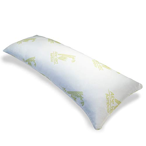 Cosy House Collection Premium Shredded Bamboo Memory Foam Body Pillow - Hypoallergenic - Best Large, Firm, Bodysize Pillows for Stomach, Side & Pregnant Sleepers - Total Body Support