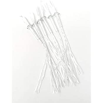 Jekayla 1//8x7 18 Pack Replacement Fiberglass Tiki Torch Wicks with Glass Tube Holder for Oil Lamps