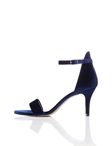 Find Sandalia Azul Mujer de para Navy Terciopelo wfRfpHZ7qn
