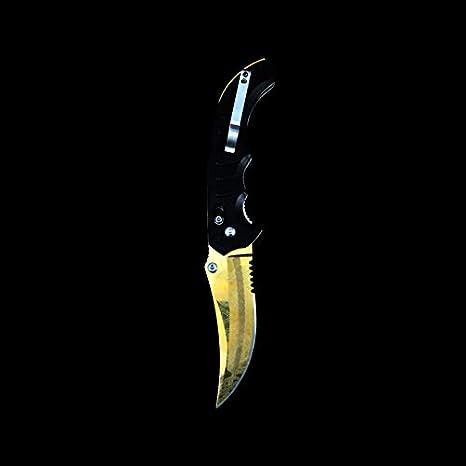 Amazon.com: CS: GO Flip cuchillo, Verde: Sports & Outdoors
