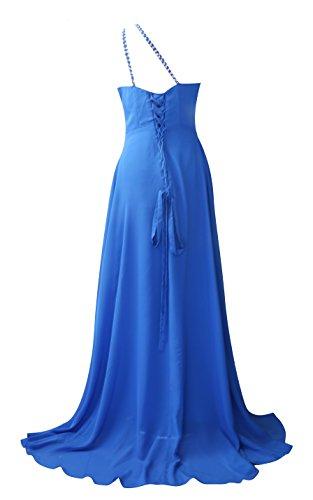 ROBLORA-Cocktail ceremonia vestido de noche vestido de dama de honor de la boda de bustier largo Celine10 Azul real