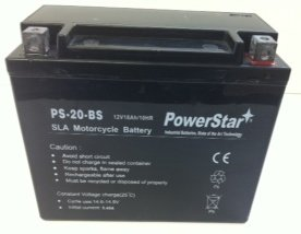 PowerStar PS-20-BS-07 Ytx20H-Bs Motorcycle Battery For Indian 1442Cc Scout Spirit 2003 - 2 Year Warranty